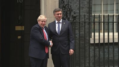 Boris Johnson welcomes Croatian PM to 10 Downing Street