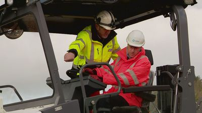 Duke of Cambridge visits Tarmac's new centre near Mansfield