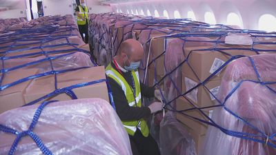 PPE flown in from China for NHS