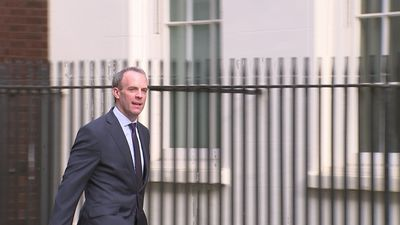 Dominic Raab arrives at Downing Street to chair cabinet meeting