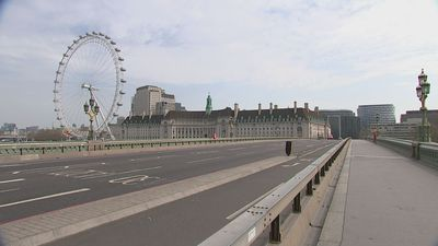 London and Manchester city centres virtually empty