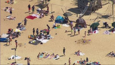 Revellers head to the beach despite lockdown