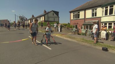 9-year-old Tobias Weller completes charity marathon