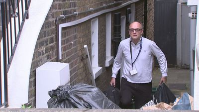 Dominic Cummings leaves home after cabinet shake-up
