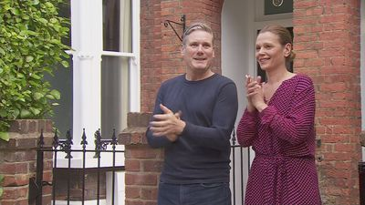 Starmer joins NHS celebrations from London home