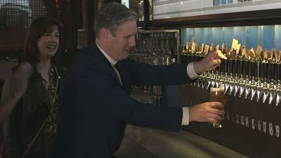 Starmer visits BrewDog pub and brewery in London