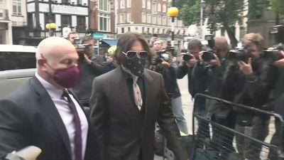 Depp arrives for day two of libel trial