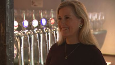 Sophie, Countess of Wessex visits local pub