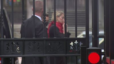 Amber Heard arrives at court