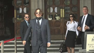 Depp arrives for day six of libel case