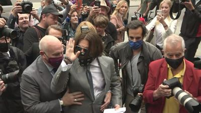 Johnny Depp and Amber Heard arrive on eighth day of trial