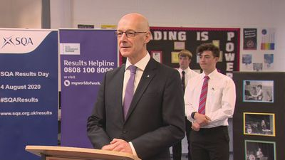 Swinney visits school in Scotland on exams Results Day