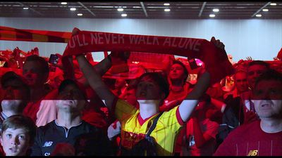 Liverpool fans sing You'll Never Walk Alone