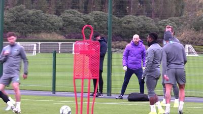 Tottenham training pre Red Star