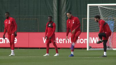 Liverpool UCL training pre Genk