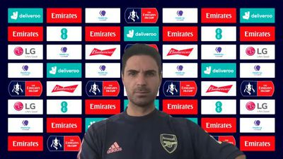 Arsenal's Arteta pre FA Cup final