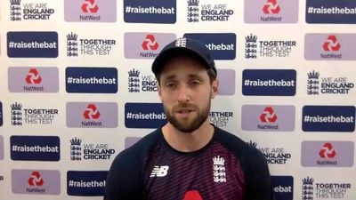England's Chris Woakes pre 1st Test v Pakistan