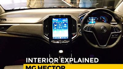 MG Hector: Interior Explained