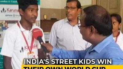 Chennai and Mumbai Kids Win Cricket World Cup For Street Children in London