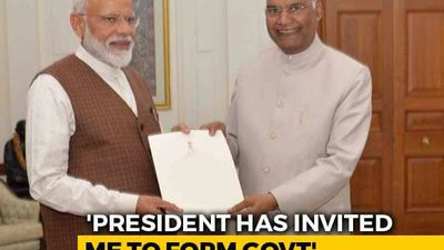 PM Modi Meets President Ram Nath Kovind, Stakes Claim To Form Government