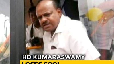 """""""You Voted For Narendra Modi"""": HD Kumaraswamy Snaps At Locals On Camera"""