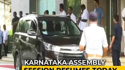 Karnataka Lawmakers Head From Resorts To Assembly Amid Trust Vote Demand