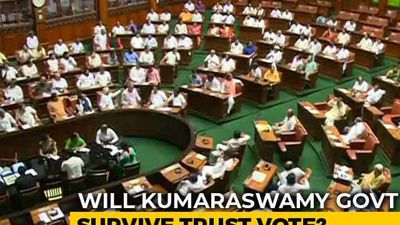 Karnataka Assembly Votes On Coalition Government's Trust Motion