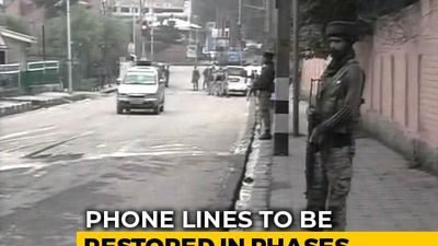 Landline Telephones Partially Restored in Kashmir Valley, Say Officials