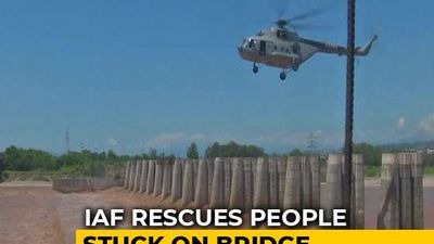 Watch: Air Force's Dramatic Rescue Of 2 Men From J&K's Flooded Tawi River