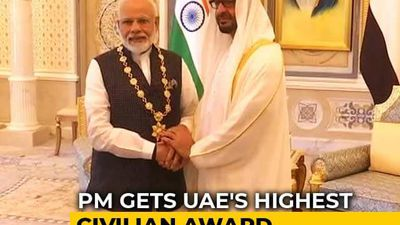 PM Modi Honoured With UAE's Highest Civilian Award