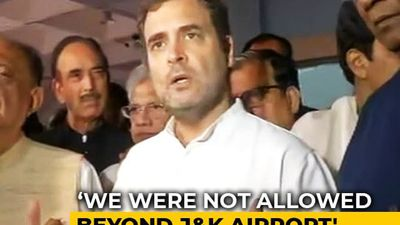 """Things Not Normal In J&K"": Rahul Gandhi On Being Sent Back From Srinagar"