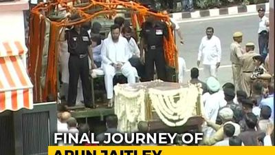 Arun Jaitley's Final Journey After Thousands Pay Last Respects