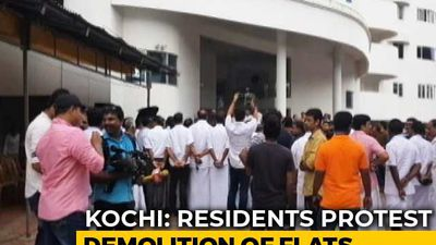 """Injustice"": Residents Protest Demolition Of Buildings In Posh Kochi Area"