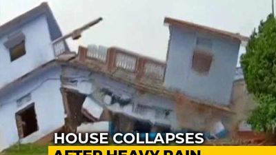 House Collapses In Seconds In Rain-Hit Uttar Pradesh