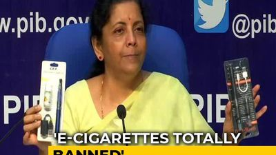 E-Cigarettes Banned, Says Finance Minister Nirmala Sitharaman