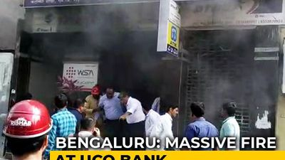 Major Fire At Bank In Bengaluru, People Try To Jump Off Building