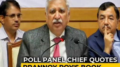 """EVM Machines Can't Be Tampered With"": Election Commissioner Quotes NDTV's Prannoy Roy"