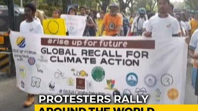 Hundreds Join Children's Climate Strike in Chennai