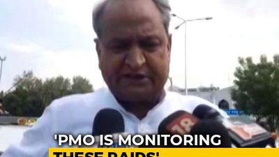 """PM's Office Is Monitoring Raids On Opposition Leaders,"" Says Ashok Gehlot"