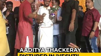 After PM, Shiv Sena's Aaditya Thackeray Seen In Veshti While Campaigning