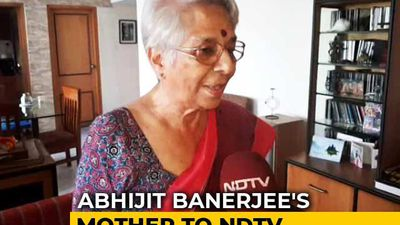 """Will Tell Him Off..."" Nobel Economics Prize Winner's Mother To NDTV"