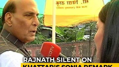 Rajnath Singh Says Poor Language Cost Congress, No Comment On ML Khattar