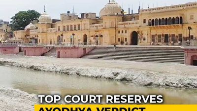 Ayodhya Case: 40 Day Hearings In Supreme Court End