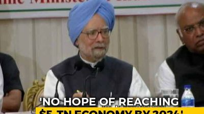 Don't Think Any Hope Of Reaching $5 Trillion Target By 2024: Manmohan Singh