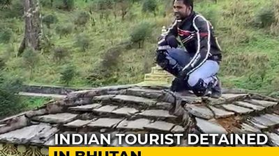 Indian Tourist On Camera Climbing Stupa In Bhutan Sparks Anger, Detained