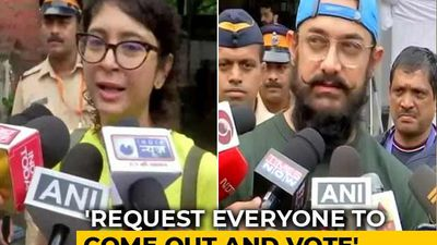 """""""We Love Our City, We Love Our State"""": Aamir Khan, Kiran Rao Cast Vote"""