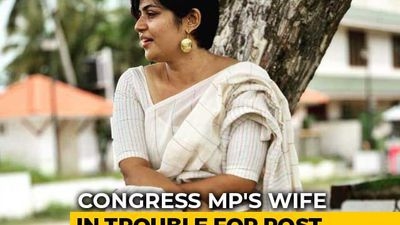 "Congress MP's Wife Apologises For ""Fate Like Rape"" Post Amid Outrage"