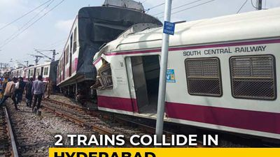 2 Trains Collide At Railway Station In Hyderabad, 6 Injured