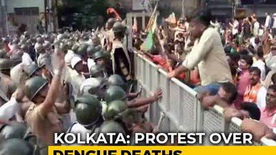 BJP Workers Protesting Over Dengue Deaths Clash With Police In Kolkata