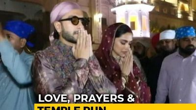 Deepika Padukone, Ranveer Singh Visit Golden Temple On Wedding Anniversary